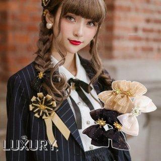 ロリータ NyaNya 太陽と月 ヘアリボン 1個販売 リボンのみ販売 ゴスロリ クラロリ ヘアアクセサリー 小物 チャーム