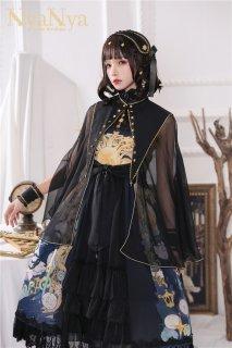 ロリータ NyaNya 太陽と月 マント マントのみ販売 襟付き ゴスロリ クラロリ 女神 小物 シースルー 透け感 リボン