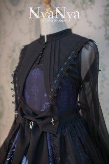 ロリータ NyaNya 太陽と月 レース付け襟 付け襟のみ販売 襟 ゴスロリ クラロリ 女神 小物 星 クロス 十字架