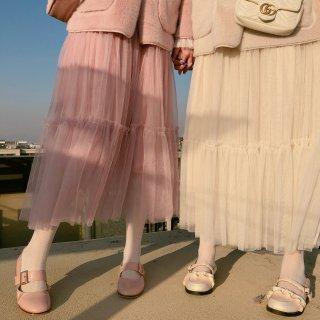ロリータ ティアードチュールスカート スカートのみ ティアードスカート デザイン性 甘ロリ 普段使い 春 レディース ひらひら