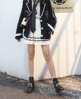 ロリータ マリンルック プリーツスカート スカートのみ販売 プリーツ 制服ロリータ 制服風 学生風 甘ロリ セーラー