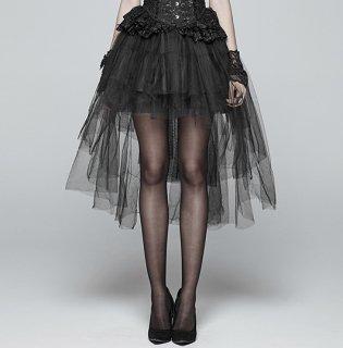 ロリータ PUNK RAVE PYON ゴスロリ ミニスカート スカートのみ チュール 黒ロリ ボトムス スカート 悪魔系