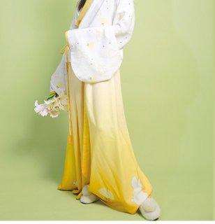 ロリータ 銀杏とうさぎ アジアン古典スタイル スカート スカートのみ販売 和ロリ 華ロリ うさぎ 個性派 中華ロリータ