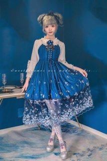 ロリータ Sweet Dreamer Vintage チュールレースジャンパースカート ジャンスカのみ 甘ロリ クラロリ 刺繍