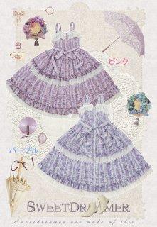 ロリータ SweetDreamer Vintage フリルジャンパースカート ジャンスカのみ 春夏 JSK 甘ロリ 姫ロリ フリル