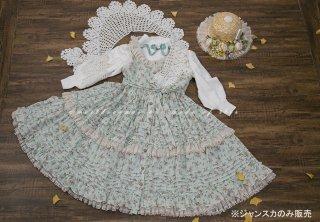 ロリータ Sweet Dreamer Vintage 花摘み少女のジャンパースカート ジャンスカのみ 花柄 フリル 甘ロリ 姫ロリ