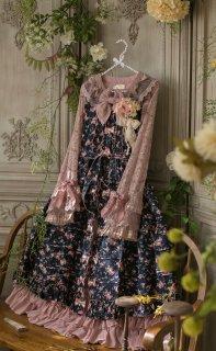 ロリータ Sweet Dreamer Vintage 花柄重ね着用ワンピース ワンピのみ スカート部ボタンなし  甘ロリ フリル
