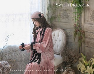 ロリータ SweetDreamer Vintage Vintageスタイル 飾り付きフリルワンピース ワンピのみ ゴスロリ 黒ロリ