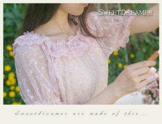 ロリータ SweetDreamer Vintage 三月の恋曲 シースルーワンピース ワンピのみ インナー必要 パフスリーブ 甘ロリ
