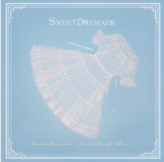 ロリータ Sweet Dreamer Vintage フリルカラーハート シースルーワンピース ワンピのみ 重ね着 透け 甘ロリ