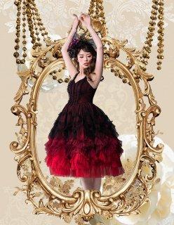 ロリータ SweetDreamer Vintage Fire of Tango チュールドレス ドレスのみ ワンピース JSK