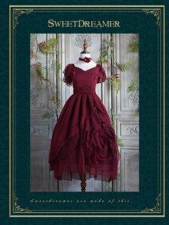 ロリータ SweetDreamer Vintage ローズモチーフドレス ロング丈 ドレスのみ 腰リボン付き クラロリ ゴスロリ