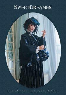 【即納品あり】ロリータ Sweet Dreamer Vintage Qilolita 華ロリ 蝶の羽織風ガウン ガウンのみ 和ロリ ゴスロリ アウター モダン