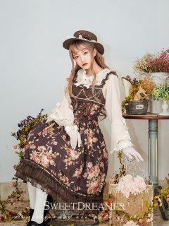 ロリータ Sweet Dreamer Vintage 花境之旅 花柄ジャンパースカート ジャンスカのみ クラロリ 甘ロリ JSK
