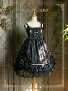 ロリータ SweetDreamer Vintage 英国風 ジャンパースカート ジャンスカのみ ストライプ クラロリ ゴスロリ