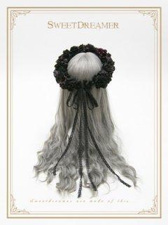ロリータ SweetDreamer Vintage Vintage風花冠 花冠のみ バラ 花 ゴスロリ クラシカル ヘッドドレス
