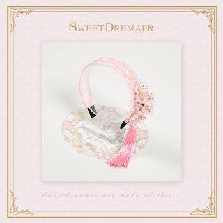 ロリータ SweetDreamer Vintage 華ロリ風レースカチューシャ カチューシャのみ お花 甘ロリ 姫ロリ 和ロリ