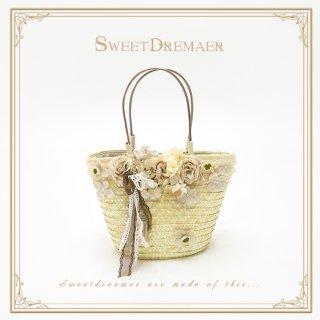 ロリータ SweetDreamer Vintage 花摘み少女のかごバッグ バッグのみ 甘ロリ 姫ロリ 森 花 かばん 手提げ