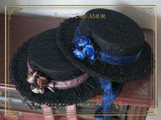 ロリータ SweetDreamer Vintage クラシカルカンカン帽 帽子のみ ハット リボン クラロリ 華ロリ ゴスロリ