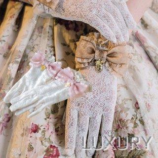 ロリータ SweetDreamer Vintage 花鏡の旅 リボンレースグローブ グローブのみ 一対 甘ロリ クラロリ 花嫁