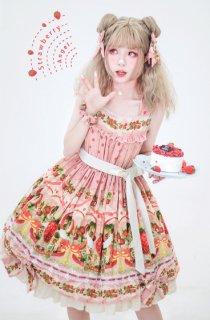 ロリータ strawberry angel SP ジャンパースカート ジャンスカのみ JSK いちご 甘ロリ ワンピ リボン
