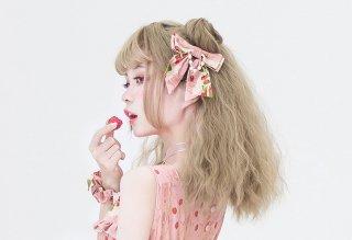 ロリータ strawberry angel SP いちごリボン バレッタ ブローチ 両用 一個販売 アクセサリー リボン 甘ロリ
