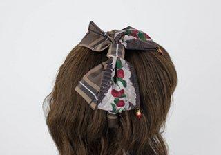 ロリータ strawberry angel � いちごカチューシャ KC ヘッドドレス ヘアアクセサリー リボン 甘ロリ
