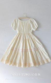 ロリータ Sweet Dreamer Vintage Lily's Dream パフスリーブワンピース エプロン別売り 春夏 重ね着 loli1290
