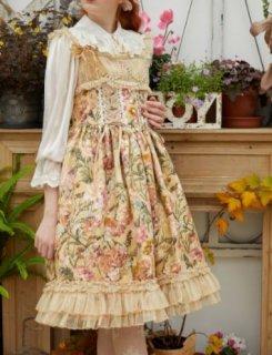 ロリータ Sweet Dreamer Vintage 花鏡の旅 ジャンパースカート ジャンスカのみ クラシカル クラロリ お嬢様 loli1301