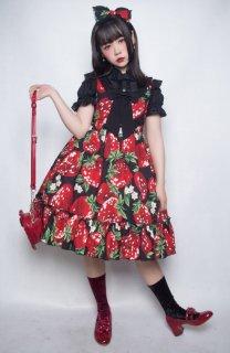 ロリータ Lulu's garden Big strawberry ジャンパースカート ジャンスカのみ jsk KC別売り 甘ロリ loli1341