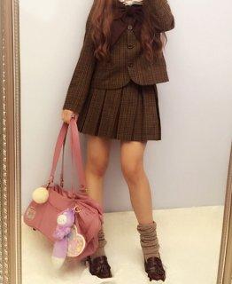 ロリータ Lulu's garden 制服風 プリーツスカート ミニスカート 制服ロリータ セーラーロリータ 甘ロリ 学生風 loli1352