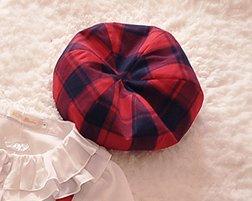 ロリータ Lulu's garden チェック柄 ベレー帽 帽子 ヘッドドレス ジャンスカ別売り 羊毛素材 秋冬 クラロリ loli1357