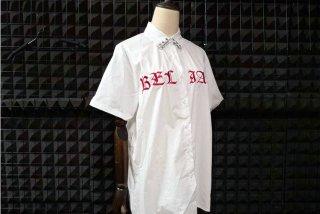 ゴスロリ ビッグサイズシャツ 刺繍 半袖 ワイシャツ オーバーサイズ 夏物 ロック パンク カジュアルロリータ loli1413
