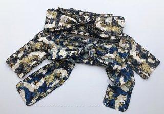 ロリータ SweetDreamerVintage 和風 帯風ベルト リボン 鶴菊模様 和ロリ ロリータ小物 着物風 和服風  loli1459