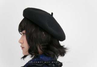 ロリータ SweetDreamerVintage ベレー帽 カシミアタッチ クリップで固定 画家 クラシカル 帽子 クラロリ loli1466
