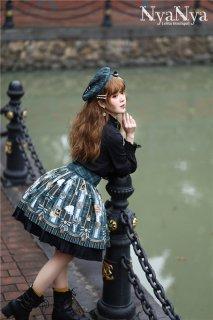 ロリータ NyaNya 魔法学校 スカート スカートのみ ボトムス 膝丈 英国風 チェック柄 クラシカル ゴスロリ loli1483