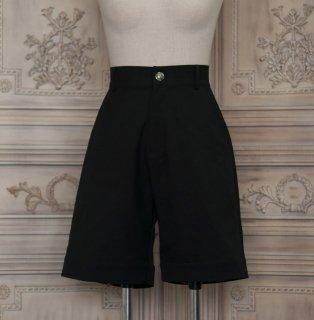 ロリータ NyaNya 王子ボトムス パンツ 膝丈 ショート丈 ブラック 少年 男装 シンプル クラロリ クラシカル loli1488