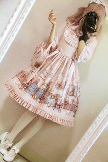 ロリータ Honeyhoney Anny'Breakfast ジャンパースカート ジャンスカのみ 半袖 甘ロリ 姫ロリ ピンク リボン  loli1539