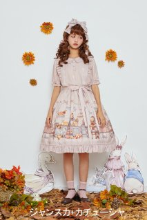ロリータ Honeyhoney Anny'Breakfast ジャンパスカ+カチューシャ セット販売 甘ロリ 姫ロリ ピンク loli1540