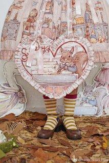 ロリータ Honeyhoney Anny'Breakfast ハート型バッグ バッグのみ 肩がけ 甘ロリ 姫ロリ ピンク フリル  loli1541