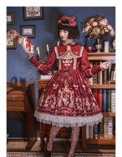 ロリータ SIKA LOLITA ロイヤルワンピース ワンピ+付け襟 セット販売 長袖 秋冬 クラシカル クラロリ loli1550