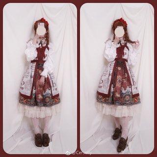 ロリータファッション Hinana Queena 星の予言 ジャンパースカート ジャンスカのみ ワンピース ワンピ ゴスロリ クラロリ 星座 ロリータ