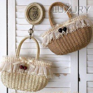 ロリータ Sweet Dreamer Vintage チェリーかごバッグ 受注生産 バッグ カバン 森ガール 甘ロリ クラロリ loli1614