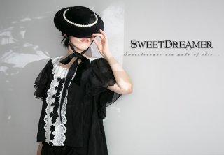 ロリータ SweetDreamerVintage フレンチクラシカルブラウス 受注生産 半袖 トップス 森ガール 甘ロリ クラロリ loli1616