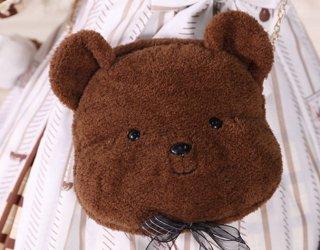 ロリータ 子熊バッグ バッグのみ ぬいぐるみバッグ 斜めがけバッグ かわいい 甘ロリ ふわふわ ポシェット カバン loli1633
