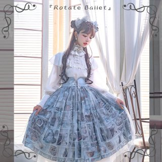 ロリータ RotateBallet スカート コルセット 編み上げ チュール クラシカル クラロリ お嬢様 レースアップ loli1695