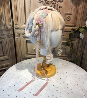 ロリータ 櫻雪 ヘアリボン コームつき ヘッドドレス 桜 春夏 甘ロリ 姫ロリ 和ロリ リボン 透け感 かわいい loli1818