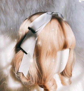 ロリータ シンプルカチューシャ風ヘッドドレス リボン 細め 金銀 かわいい 甘ロリ 姫ロリ メイド コスプレ【ポスト投函対応】 loli1853