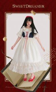 ロリータ Sweet Dreamer Vintage 白雪姫のドレスワンピース ワンピのみ 童話 クラロリ レースアップ フリル loli1854