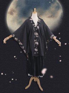 ロリータ SweetDreamerVintage 10月の桜 和服風ガウン 和ロリ 上着 羽織り 重ね着 和風 アジアン ロリータファッション ロリィタ loli1858
